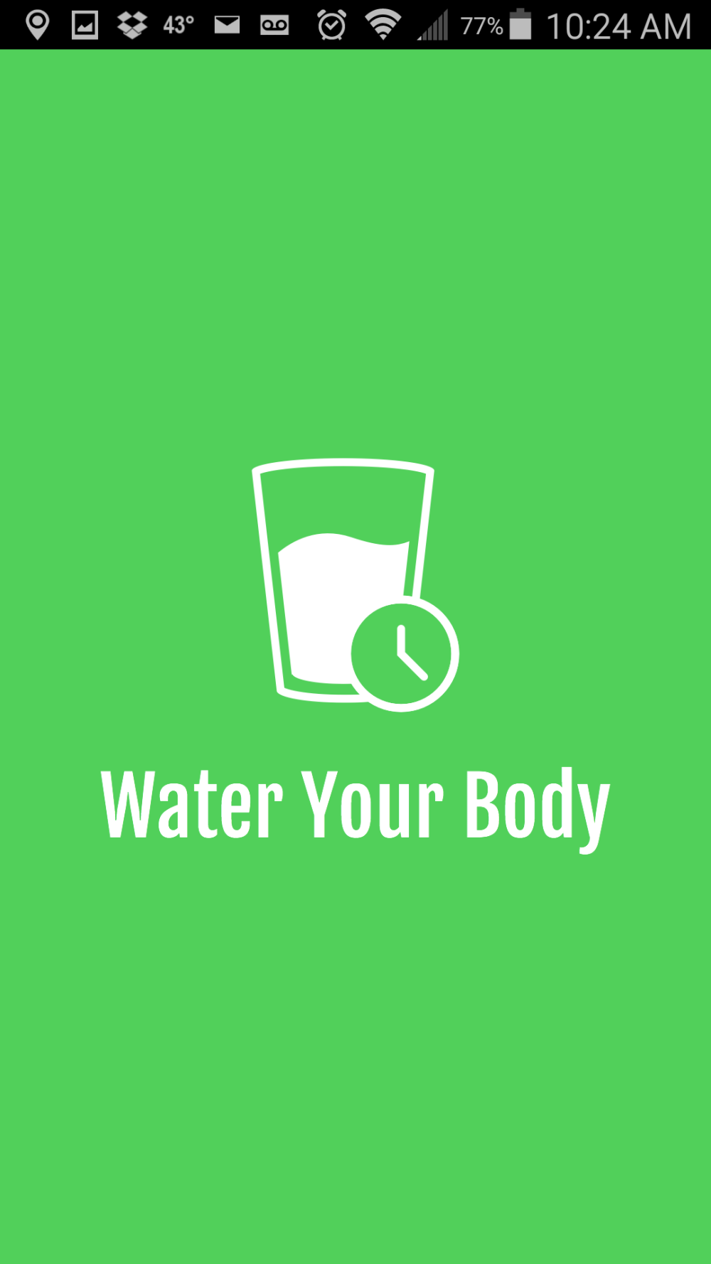 Things I like: Water Your Body mobile app