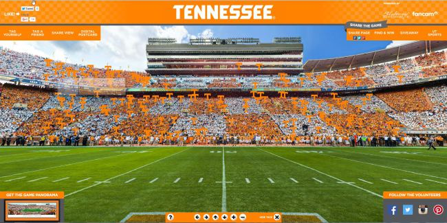 Hey Vols! Find yourself in this panoramic image at #CheckerNeyland